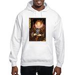 Elizabeth / Poodle (Silver) Hooded Sweatshirt