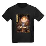 Elizabeth / Poodle (Silver) Kids Dark T-Shirt