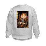 Elizabeth / Poodle (Silver) Kids Sweatshirt