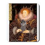 Elizabeth / Poodle (Silver) Mousepad