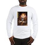 Elizabeth / Poodle (Silver) Long Sleeve T-Shirt