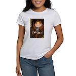 Elizabeth / Poodle (Silver) Women's T-Shirt