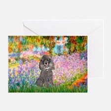 Garden / Poodle (Silver) Greeting Card