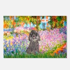 Garden / Poodle (Silver) Postcards (Package of 8)