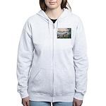 Seine / Poodle (Silver) Women's Zip Hoodie