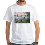 Seine / Poodle (Silver) White T-Shirt