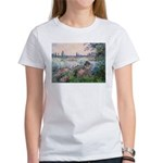 Seine / Poodle (Silver) Women's T-Shirt