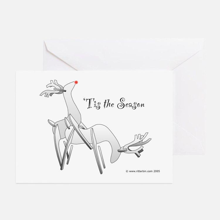 'Tis the Season, 6 Horny Reindeer Greeting Cards