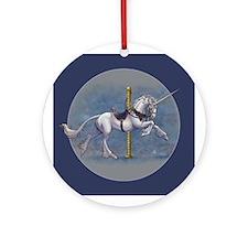 Carousel Unicorn Ornament (Round)