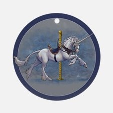 Carousel Unicorn Ornament (Round)