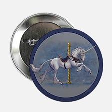 "Carousel Unicorn 2.25"" Button"