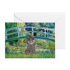 Bridge / Poodle (Silver) Greeting Card