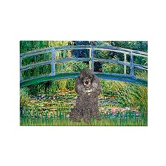 Bridge / Poodle (Silver) Rectangle Magnet (10 pack