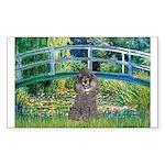 Bridge / Poodle (Silver) Sticker (Rectangle 50 pk)