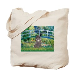 Bridge / Poodle (Silver) Tote Bag
