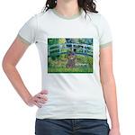 Bridge / Poodle (Silver) Jr. Ringer T-Shirt