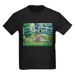 Bridge / Poodle (Silver) Kids Dark T-Shirt