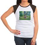 Bridge / Poodle (Silver) Women's Cap Sleeve T-Shir