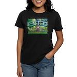 Bridge / Poodle (Silver) Women's Dark T-Shirt