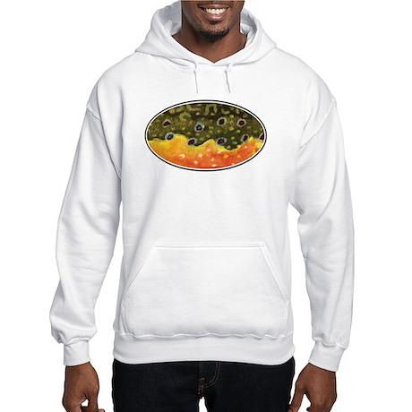 Brook Trout Fly Fishing Hooded Sweatshirt