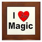 I Love Magic Framed Tile