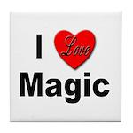 I Love Magic Tile Coaster