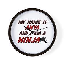 my name is anya and i am a ninja Wall Clock