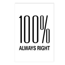 100% Always Right Postcards (Package of 8)