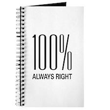 100% Always Right Journal