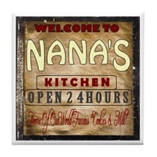 Welcome To Nana's Kitchen Tile Coaster