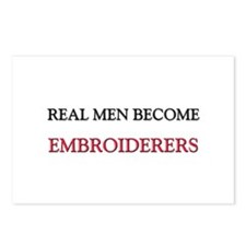 Real Men Become Embroiderers Postcards (Package of