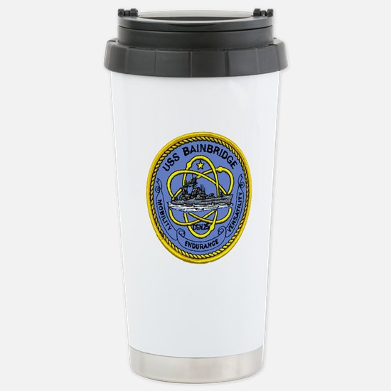 USS Bainbridge CGN 25 Stainless Steel Travel Mug