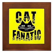 Cat Fanatic Framed Tile