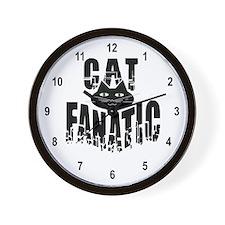 Cat Fanatic Wall Clock