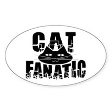 Cat Fanatic Oval Decal