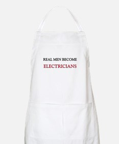 Real Men Become Electricians BBQ Apron
