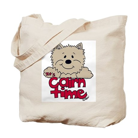 'Big Cairn: Brown/Red Tote Bag