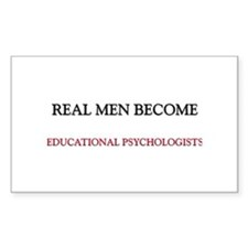 Real Men Become Educational Psychologists Decal