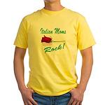 Italian moms Rock Yellow T-Shirt