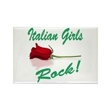 Italian Girls Rectangle Magnet