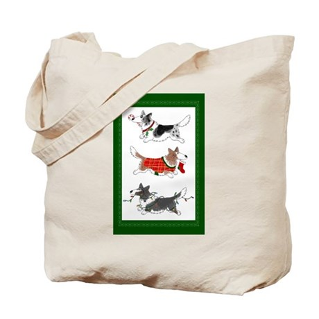 Three Cardigan Corgis Tote Bag
