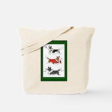 Three Cardigan Corgis Tote Bag