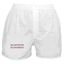 Real Men Become Economists Boxer Shorts