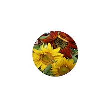 Three sunflowers Mini Button (100 pack)