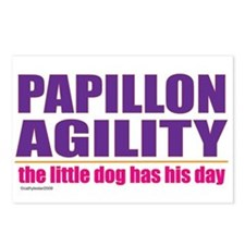 Papillon Agility Postcards (Package of 8)