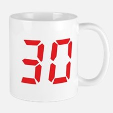 30 thirty red alarm clock num Mug