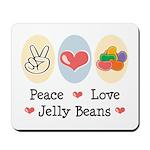 Peace Love Jelly Beans Mousepad