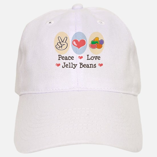 Peace Love Jelly Beans Baseball Baseball Cap