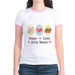 Peace Love Jelly Beans Jr. Ringer T-Shirt