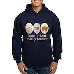 Peace Love Jelly Beans Hoodie (dark)